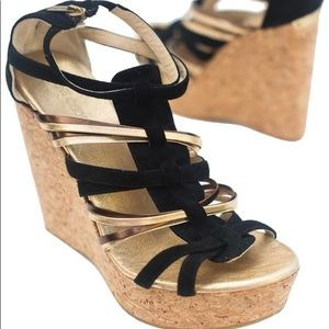Jimmy Choo wedge strappy heels